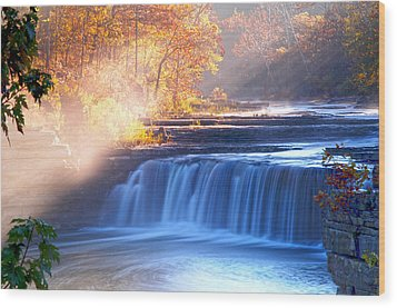 Cataract Falls Indiana Wood Print