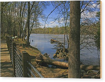 Wood Print featuring the photograph Catawba River Walk by Andy Lawless