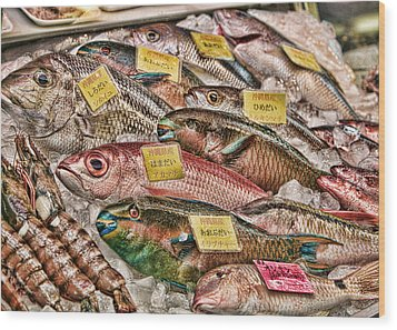 Catch Of The Day Wood Print by Karen Walzer