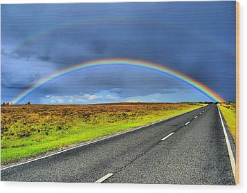 Catch The Rainbow Wood Print by Dave Woodbridge
