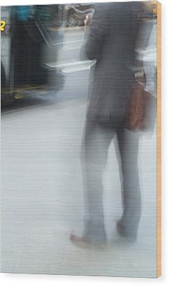 Catching The Bus Wood Print by Karol Livote