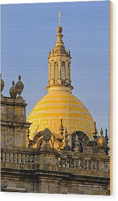 Wood Print featuring the photograph Catedral De Guadalajara by David Perry Lawrence