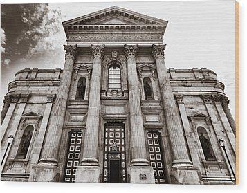 Wood Print featuring the photograph Cathedral Basilica Of Saints Peter And Paul - Philadelphia by Photography  By Sai