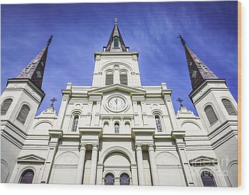 Cathedral-basilica Of St. Louis King Of France Wood Print by Paul Velgos
