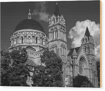 Cathedral Basilica Of St. Louis Wood Print by Scott Rackers