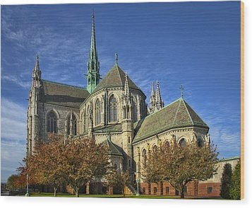 Cathedral Basilica Of The Sacred Heart Wood Print by Susan Candelario
