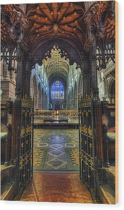 Cathedral Choir Gates Wood Print by Ian Mitchell