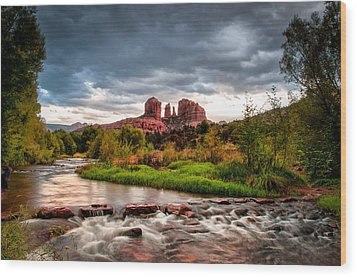 Cathedral Crossing Red Rock Wood Print by Linda Pulvermacher