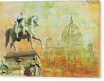 Cathedral De Berlin Wood Print by Catf