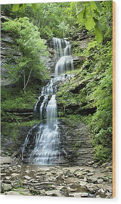 Wood Print featuring the photograph Cathedral Falls by Robert Camp