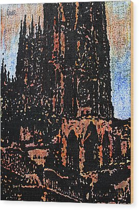 Cathedral In Spring Wood Print by Oscar Penalber