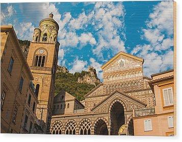 Cathedral Of Amalfi Wood Print