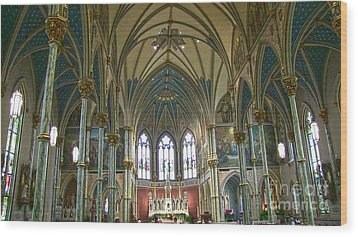 Cathedral Of Saint John The Baptist Wood Print by D Wallace