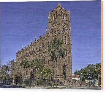 Cathedral Of St. John The Baptist Charleston Wood Print by Lynn Palmer