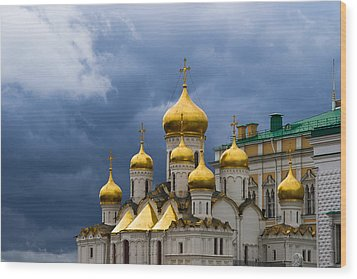 Cathedral Of The Annunciation Of Moscow Kremlin Wood Print by Alexander Senin