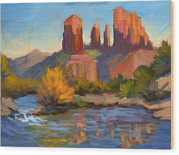 Cathedral Rock 2 Wood Print by Diane McClary