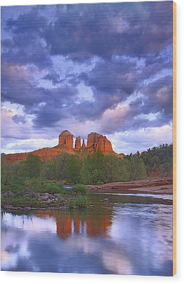 Cathedral Rock And Oak Creek At Red Wood Print by Tim Fitzharris