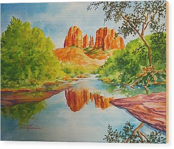 Cathedral Rock  Wood Print by Gracia  Molloy