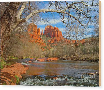 Cathedral Rock Wood Print