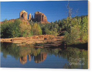 Cathedral Rock Wood Print by Mark Newman