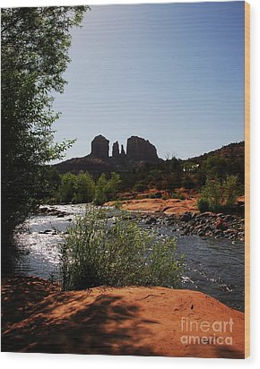 Cathedral Rock Wood Print by Mel Steinhauer