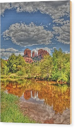 Cathedral Rock Painted Wood Print
