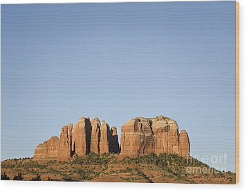 Cathedral Rock Vi Wood Print by Dave Gordon