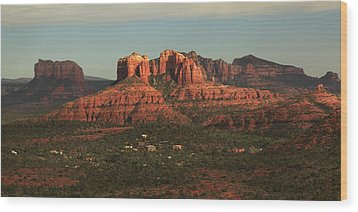 Wood Print featuring the photograph Cathedral Rocks In Sedona by Alan Vance Ley