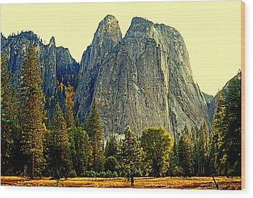 Cathedral Rocks Wood Print