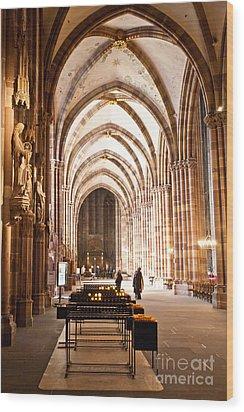 Cathedrale Notre Dame De Strasbourg France Wood Print