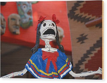 Catrina Doll Wood Print by Susie Blauser