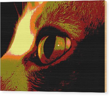 Cat's Eye Abstract  Wood Print by Ann Powell