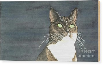 Cats Eyes Wood Print