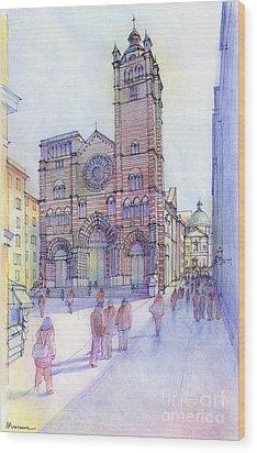 Cattedrale Di S. Lorenzo A Genova Wood Print by Luca Massone