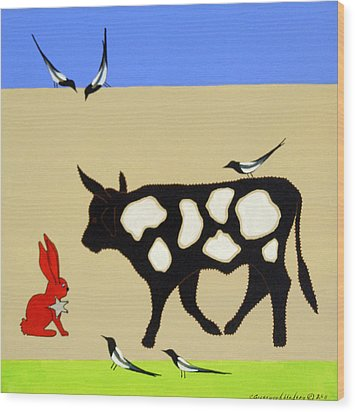 Cattle Guard Wood Print