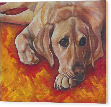 Caught Off Guard Wood Print by Eve  Wheeler