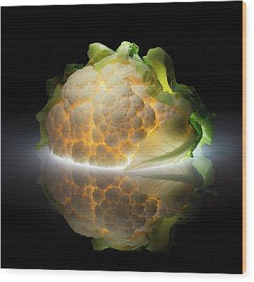 Cauliflower Wood Print