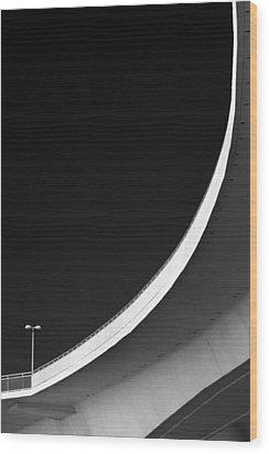 Causeway Arc Clearwater Florida Black And White Wood Print