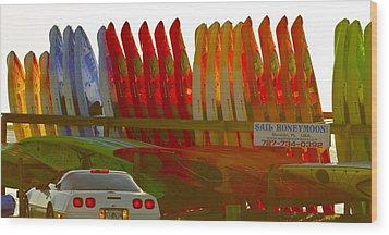 Causeway Kayaks Wood Print