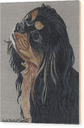 Cavalier King Charles Spaniel Wood Print by Anita Putman