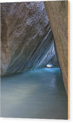 Cave At The Baths Wood Print by Adam Romanowicz