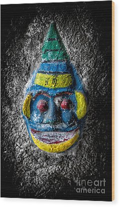 Cave Face 3 Wood Print by Adrian Evans