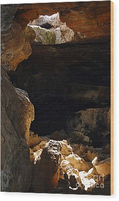 Wood Print featuring the photograph Cave Light by Debra Thompson