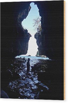 Cave Wood Print