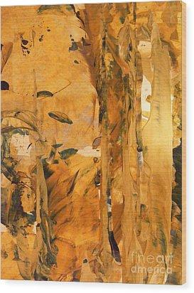 Cave Of Gold Wood Print by Nancy Kane Chapman
