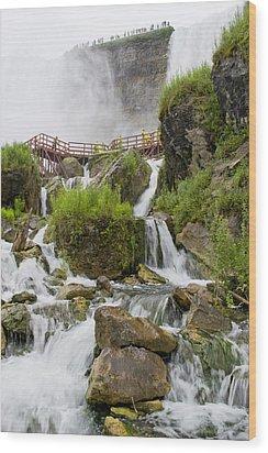 Cave Of The Winds At Niagara Falls Wood Print