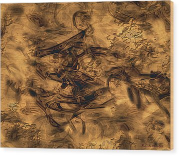 Cave Painting Wood Print by RC deWinter