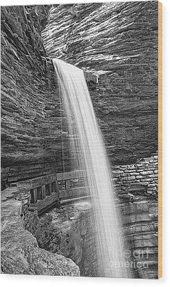 Cavern Cascade Watkins Glen Wood Print