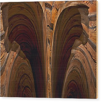 Caverns Of Wood Wood Print by Murray Bloom
