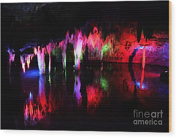 Wood Print featuring the photograph Caverns by Utopia Concepts